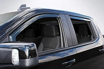 Amazon Com Wade 4 Piece In Channel Wind Deflectors Vent Visors For 2019 Chevrolet Chevy Silverado 1500 Crew Cab 2019 Gmc Sierra 1500 Crew Cab Automotive