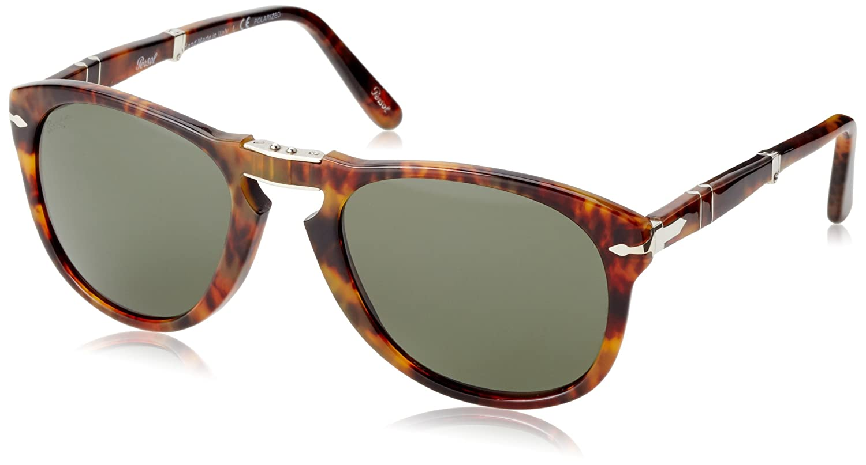 caaa8ae37f Amazon.com: Persol Sunglasses (PO0714) Brown/Green Acetate - Polarized -  54mm: Persol: Shoes