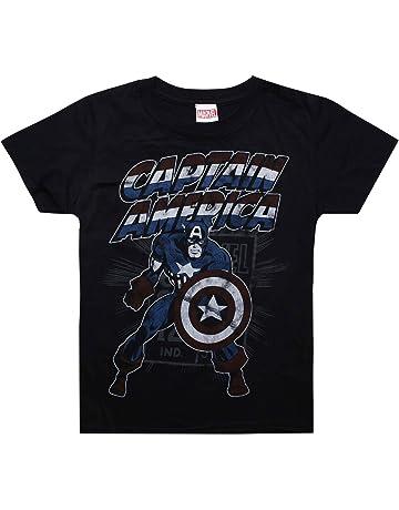 523dda6cc17 Marvel Boy's Captain America Retro T-Shirt