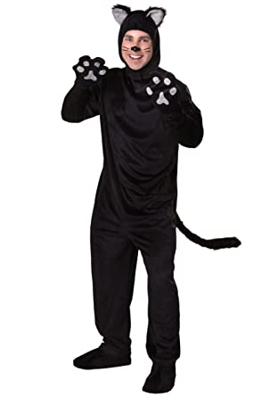 5de003cd98d6 Amazon.com  Adult Black Cat Costume  Clothing