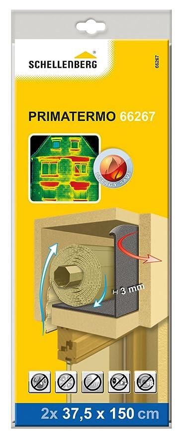 Schellenberg 66267 Rodillos aislantes para cajas de persiana 150 cm x 37.5 Set de 2 Piezas