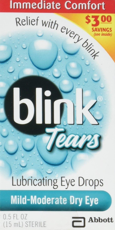 Blink Tears Lubricating Mild-Moderate Dry Eye Drops, 0.5 Oz.(pack of 3)