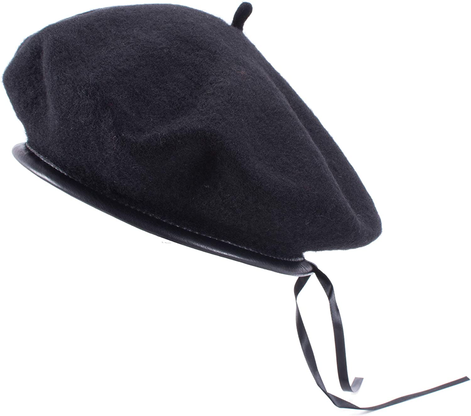 Cren French Style Lightweight Casual Classic Solid Color Wool Beret Beanie Cap Hat Womens