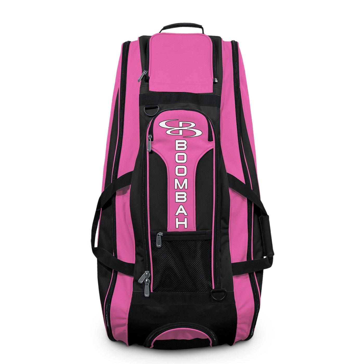 Boombah Beast Baseball/Softball Bat Bag - 40'' x 14'' x 13'' - Black/Pink - Holds 8 Bats, Glove & Shoe Compartments by Boombah (Image #3)