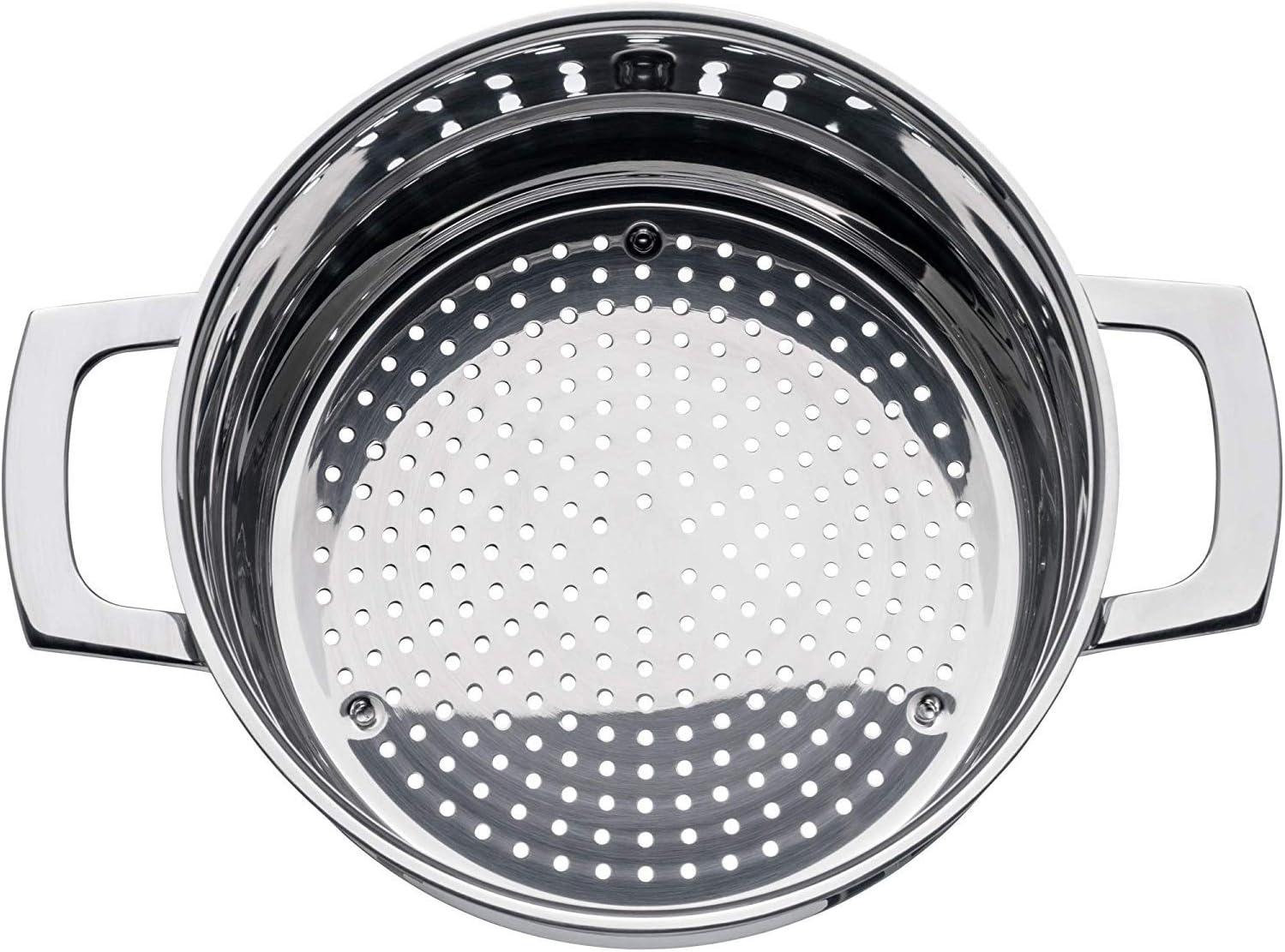 Lavabile in lavastoviglie in Acciaio Inox Cromargan 18//10 WMF 786166380 VarioCuisine-Inserto per Cottura a Vapore /Ø 16 cm
