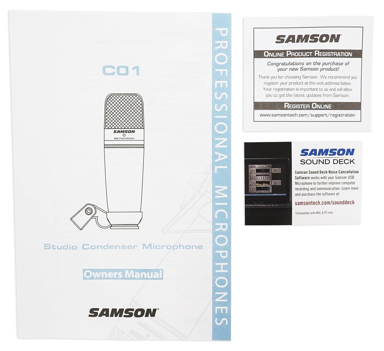 amazon com samson c01 vocal condenser microphone samson audio