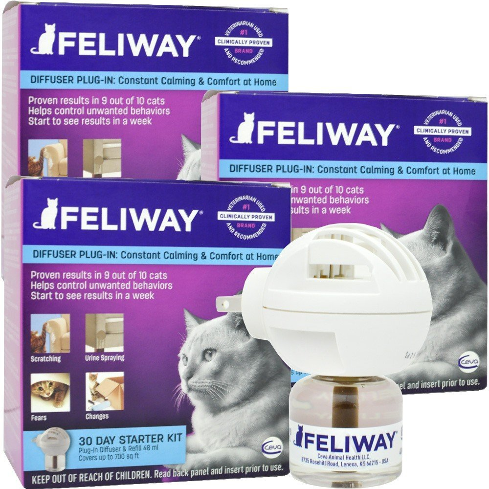 3 PACK Feliway Electric Diffuser (144 mL)