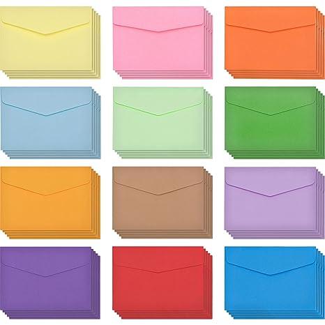 60 Piezas Mini Sobres Multicolor Sobres Adorables Bonitos (4,6 x 3,2