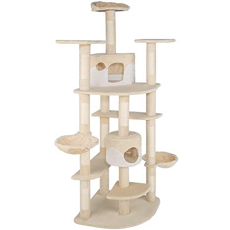 TecTake Rascador Para Gatos Árbol Para Gatos Trepar Sisal Juguetes 204cm - disponible en diferentes colores