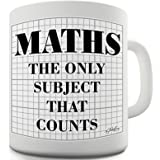 Twisted Envy Maths The Only Subject That Counts Ceramic Novelty Mug