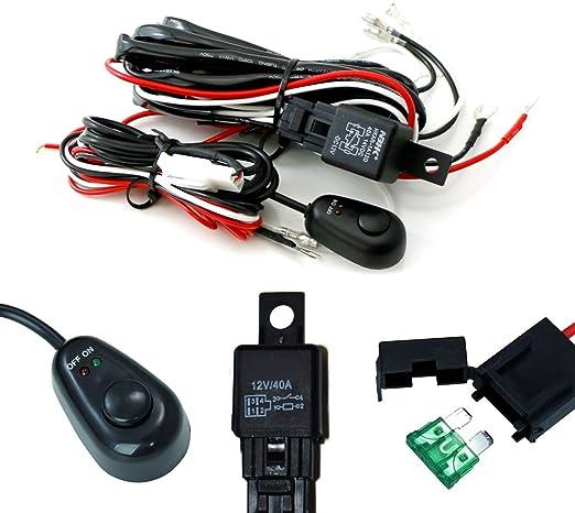 ijdmtoy (1) Universal Fit relé Cableado Kit de cable con ...