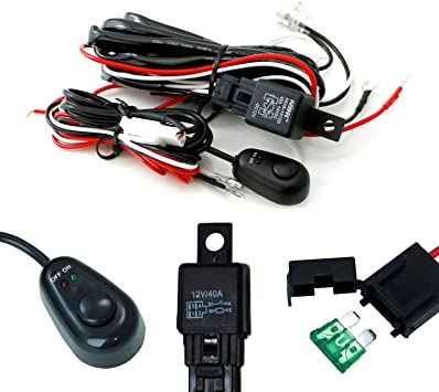 [SCHEMATICS_4FR]  Amazon.com: iJDMTOY (1) Universal Fit Relay Harness Wire Kit with LED Light  ON/OFF Switch Compatible With Fog Lights, Driving Lights, Xenon Headlight Lighting  Kit or LED Work Light, etc: Automotive | Led Light Set Wiring Diagram |  | Amazon.com