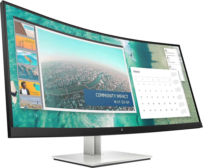 HP E9c (9 Zoll / WQHD 9Hz) Curved Business Monitor (9ms GtG, neigbar,  HDMI, DisplayPort, VESA, USB-C) schwarz