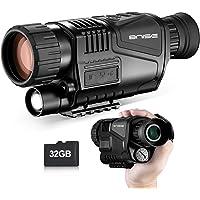 Monocular infrarrojo de visión Nocturna en HD de 8x40 con cámara Digital; reproducción de Video; Salida USB; para Caza y…