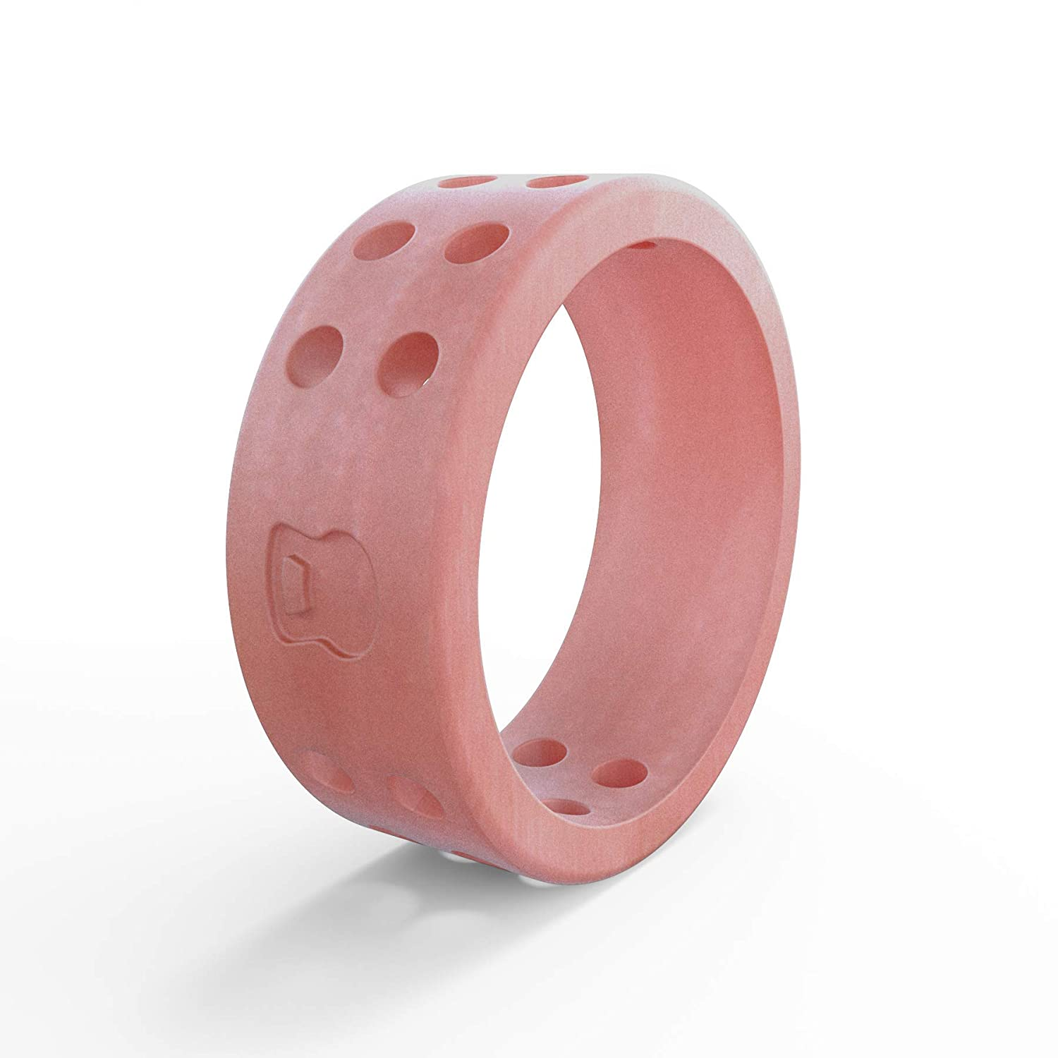 Amazon.com : QALO Women\'s Perforated Silicone Ring, Misty Rose, Size ...