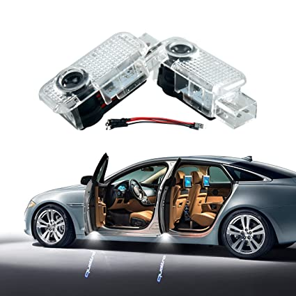 Amazoncom AUDI Quattro Car Door LED Lighting Logo Pcs LED Entry - 2 door audi a7