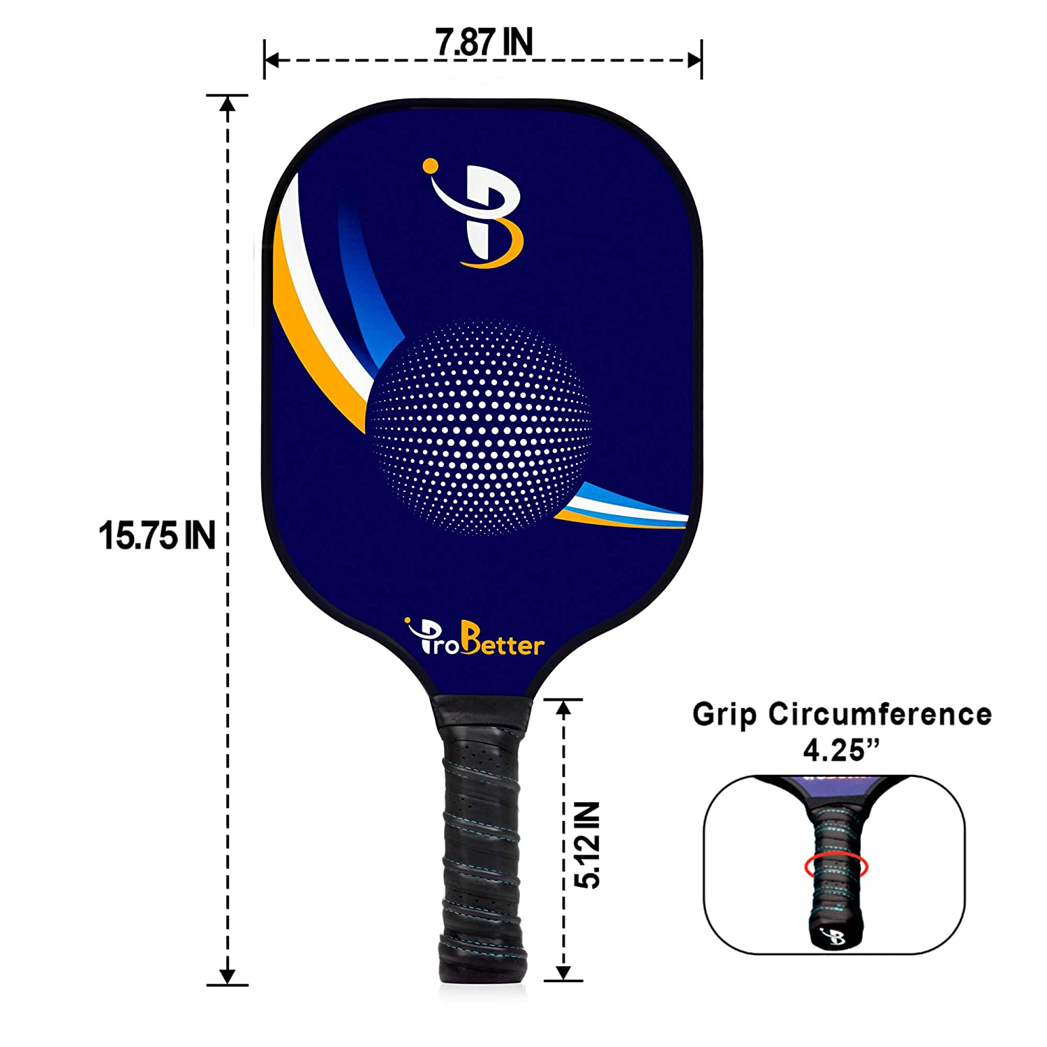 Amazon.com: ProBetter Pickleball Paddle Graphite Face ...