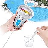 Testeur de chlore au mètre, Risepro® PH et CL2chlore testeur de niveau piscine d'eau Spa d'analyse de la qualité de l'eau Pc-102