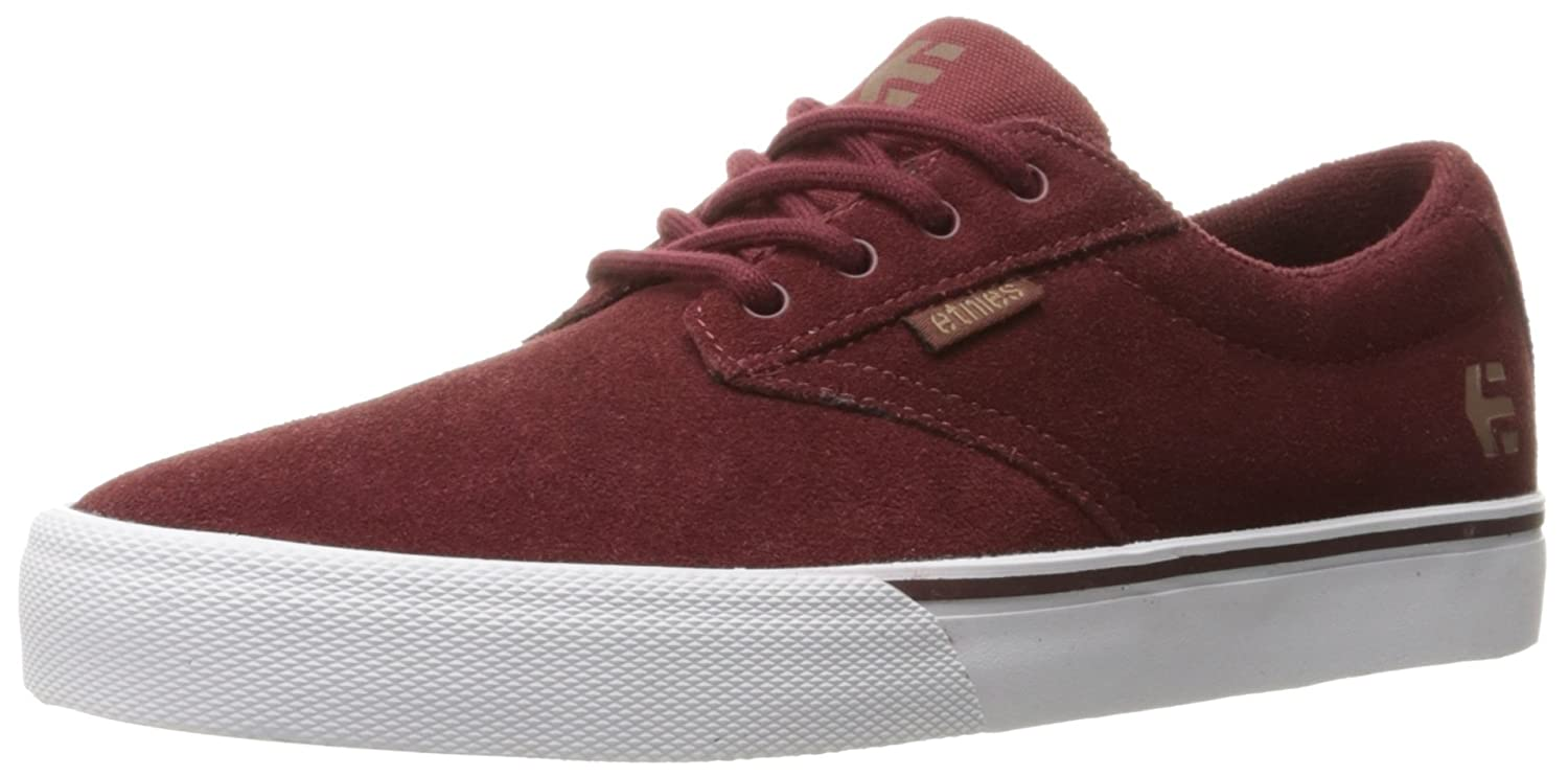 Etnies Women's Jameson Vulc Skate Shoe B01DODM37W 5 B(M) US|Burgundy/Tan/White