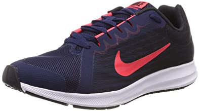 26d4e9d026ca Nike Girl s Downshifter 8 (GS) Running Shoe Midnight Navy Flash Crimson Oil