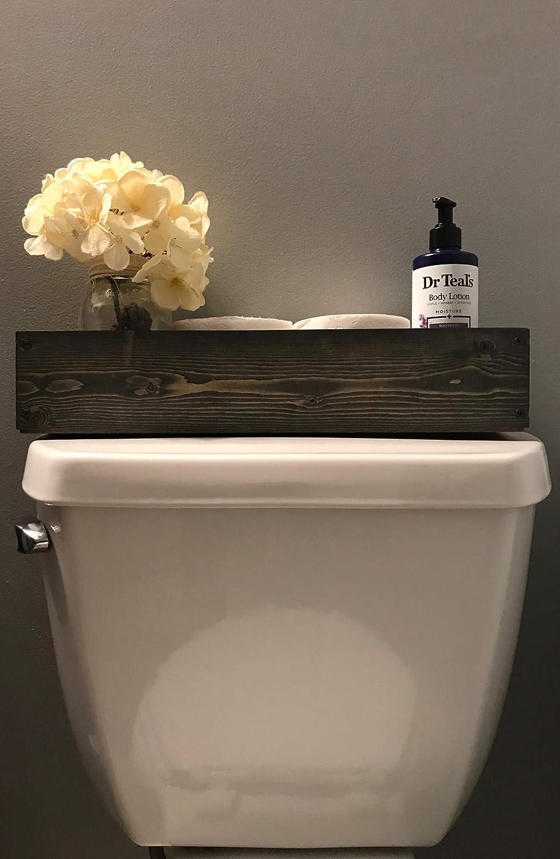 Beau Amazon.com: Gray Toilet Topper Box Bin Bathroom Toilet Paper Holder Storage  Tank Topper: Handmade