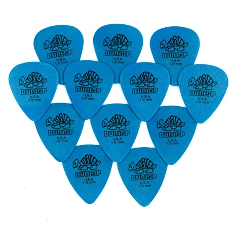 Jim Dunlop Tortex - Set de 12 púas para guitarra / Grosor: 1.00 mm (