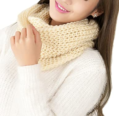 01a425b1b487 TININNA Mode Féminine Tricot à Crochet Hiver Chaud 8 Infinity Cercle Tricot  Torsadé à Col Bénitier