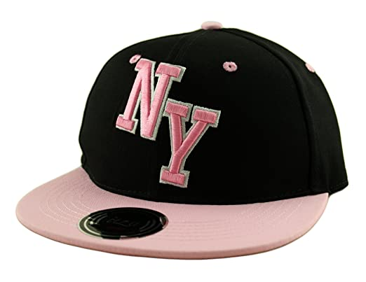 e4ba8bca Kids (Boys / Girls) New York NY Snapback Baseball Cap Hat (Youth) in Pink  Black Blue Purple (Black and Pink NY Block (Itzu)): Amazon.co.uk: Clothing