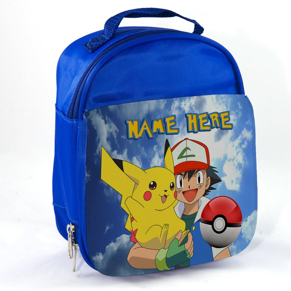 Personalised Pokemon Pk01 Blue Childrens Insulated School Lunch Box Cooler Bag KRAFTYGIFTS KGPL206