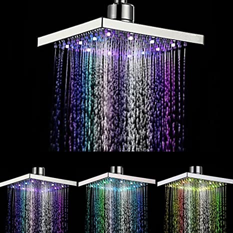Home Improvement Search For Flights Colorful Led Shower Head Changing Shower Head No Battery Led Waterfall Shower Head Round Showerhead 7-color Bathroom Accessories Shower Heads