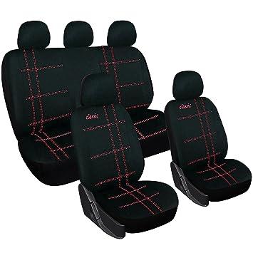 Sitzbezüge schwarz hinten KOS HONDA JAZZ
