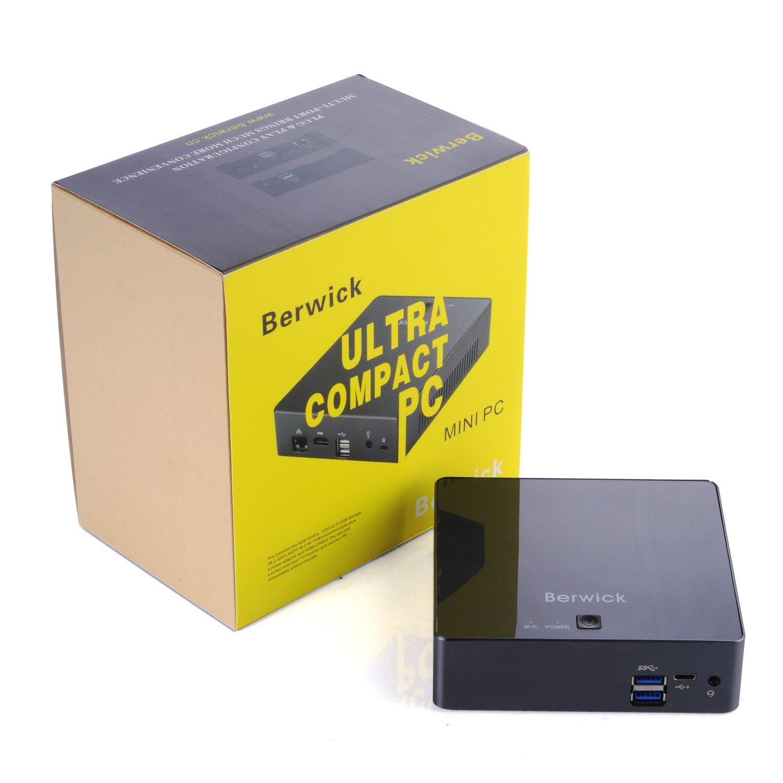 Berwick Mini PC Ubuntu16.04 Ultra Compact PC Intel Skylake i7-7500U 802.11AC WIFI Gigabit LAN HDMI USB3.1 Samsung SSD+8G DDR3L (i7-7500U+240G SSD): ...