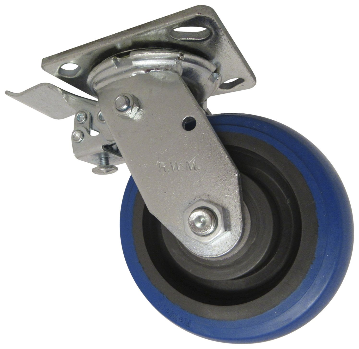 Swivel Caster RWM Casters 46-SWR-0520-S-FCSTLB 46 Series 6-1//2 High Total Lock Brake 5 Signature Wheel with Face Contact Steel
