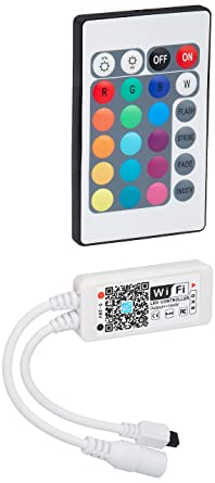 Amazon Com Led Strip Light Alexa Rgb Controller Wifi Smart Home