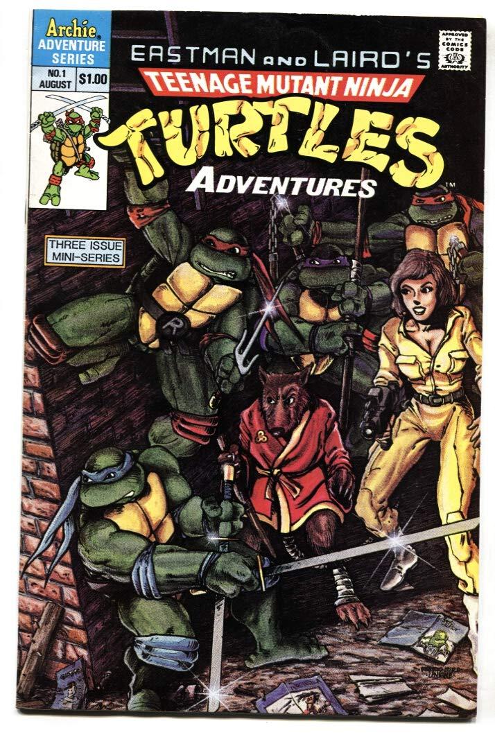 TEENAGE MUTANT NINJA TURTLES ADVENTURES #1 comic book 1st ...