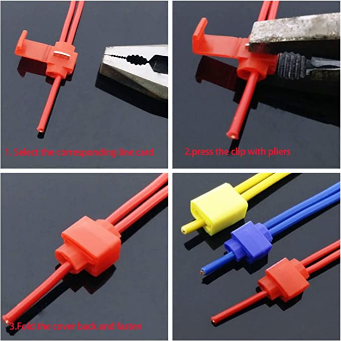 RUNCCI-YUN 60Pcs Scotch Lock Conector,Conector Rama,Rápido Terminales de Empalme Crimp,Conectores Empalme,for Coche Motocicleta La Conexión de Cable