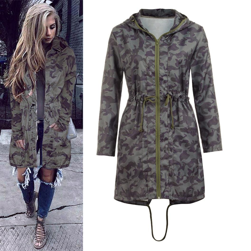 220ee1a49b05e Amazon.com: Jushye Hot Sale!!! Women's Camouflage Coat, Ladies Warm  Boyfriend Hooded Long Sleeve Jacket Coats Windbreaker Outwear: Clothing