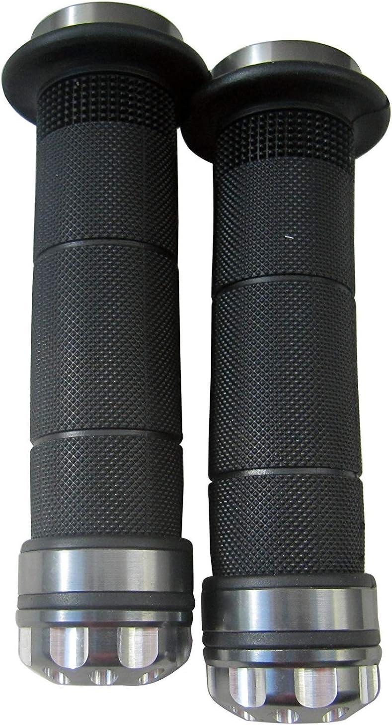 MotorToGo Motorcycle 7//8 22mm Handlebar Grips Gel w//Titanium CNC Bar End Cap for 1993 Honda Nighthawk 750 CB750 49 State