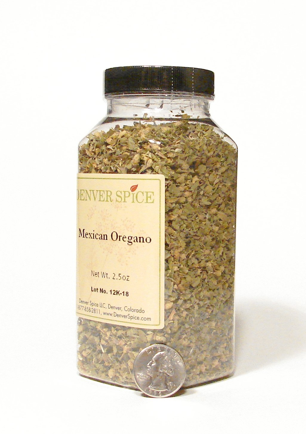 Oregano, Mexican-Large Clear Easy Grip Jar by Denver Spice (Image #1)