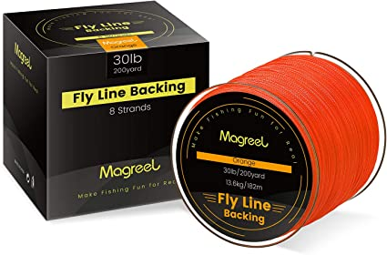 20//30LB Line Backing White Orange Yellow Braided Fly Fishing Trout Line/&Loop ZP