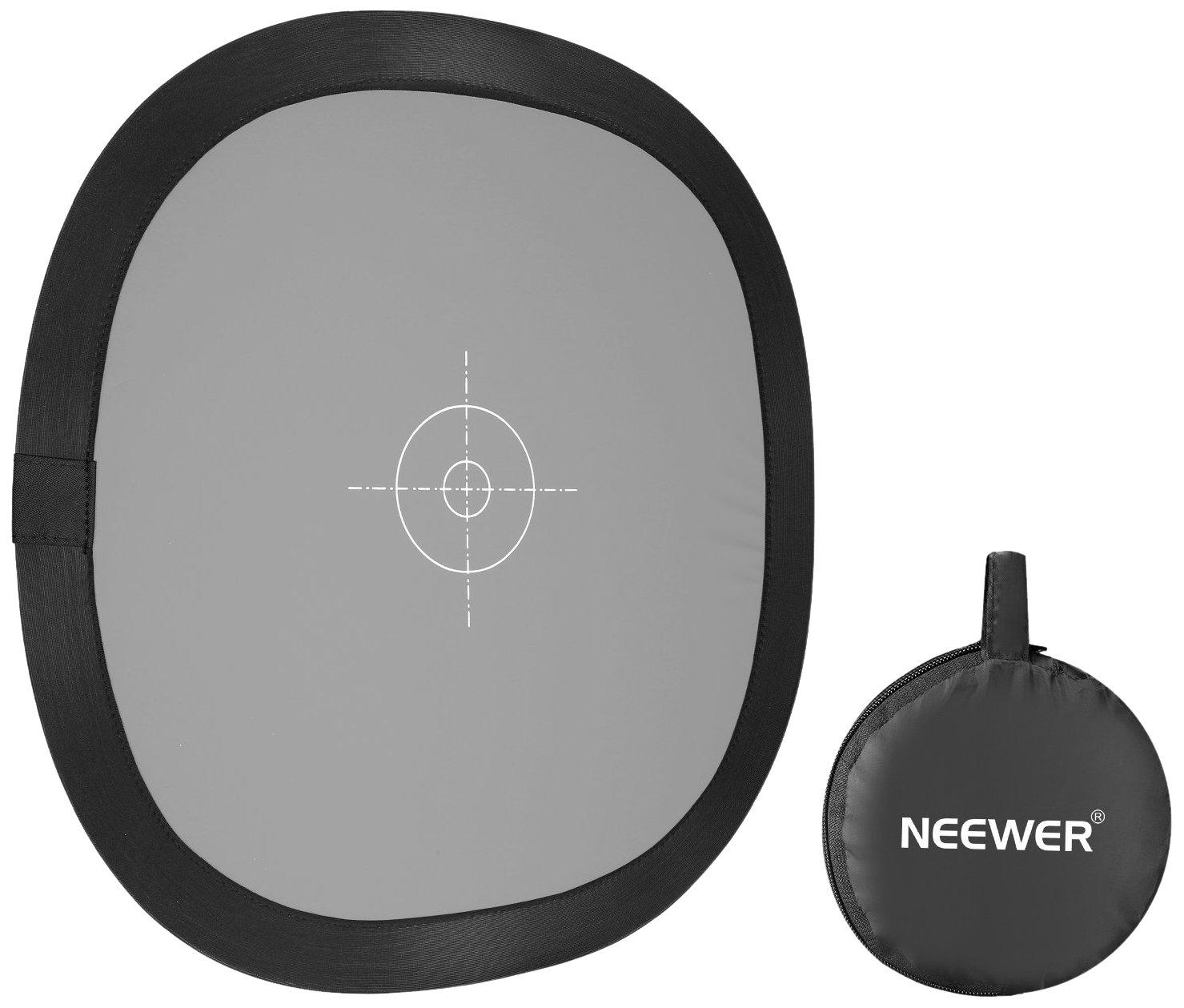 Amazon.com: Neewer – Gris/doble cara tarjeta de balance de ...