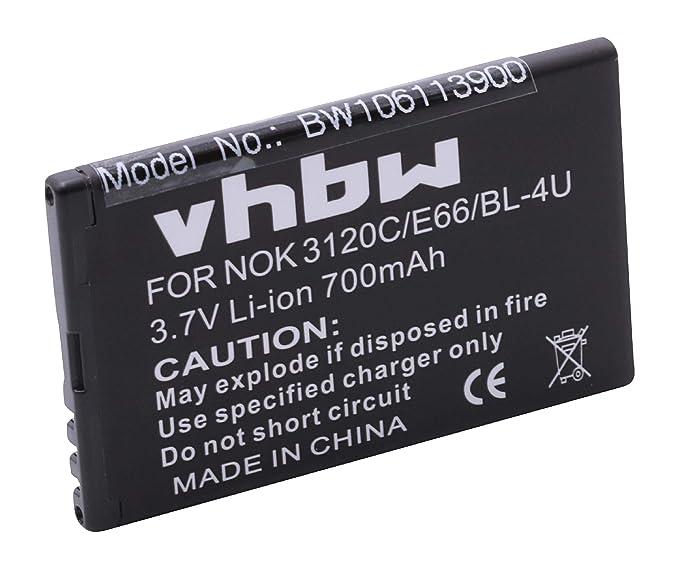 BATERÍA LI-Ion Compatible con Nokia C5-03, 5250 sustituye BL-4U ...