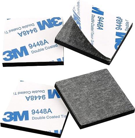 rectangulares 110 Unidades hogar Almohadillas de Espuma de Doble Cara Cinta Adhesiva de Doble Cara para Cocina cuadradas Redondas Datyeco