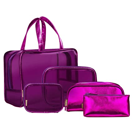 Amazon.com: NiceEbag 5 en 1 Set de bolsas de maquillaje de ...