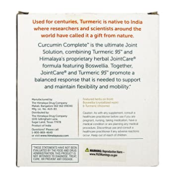 Himalaya Herbal Healthcare - Curcumin Complete The Joint Solution Set - 2Botella (s): Amazon.es: Salud y cuidado personal