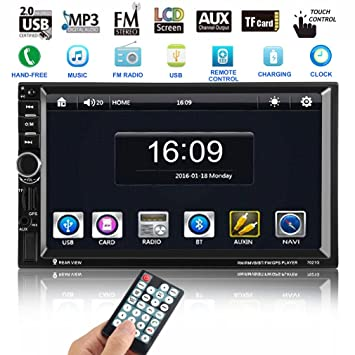 Auto-Radio MP5 Player, CATUO 7 Inch Navigation System DVD Player with GPS  Navigation Support GPS / Mic / BLUETOOTH / USB / TF / AUX / + Free 8GB Map