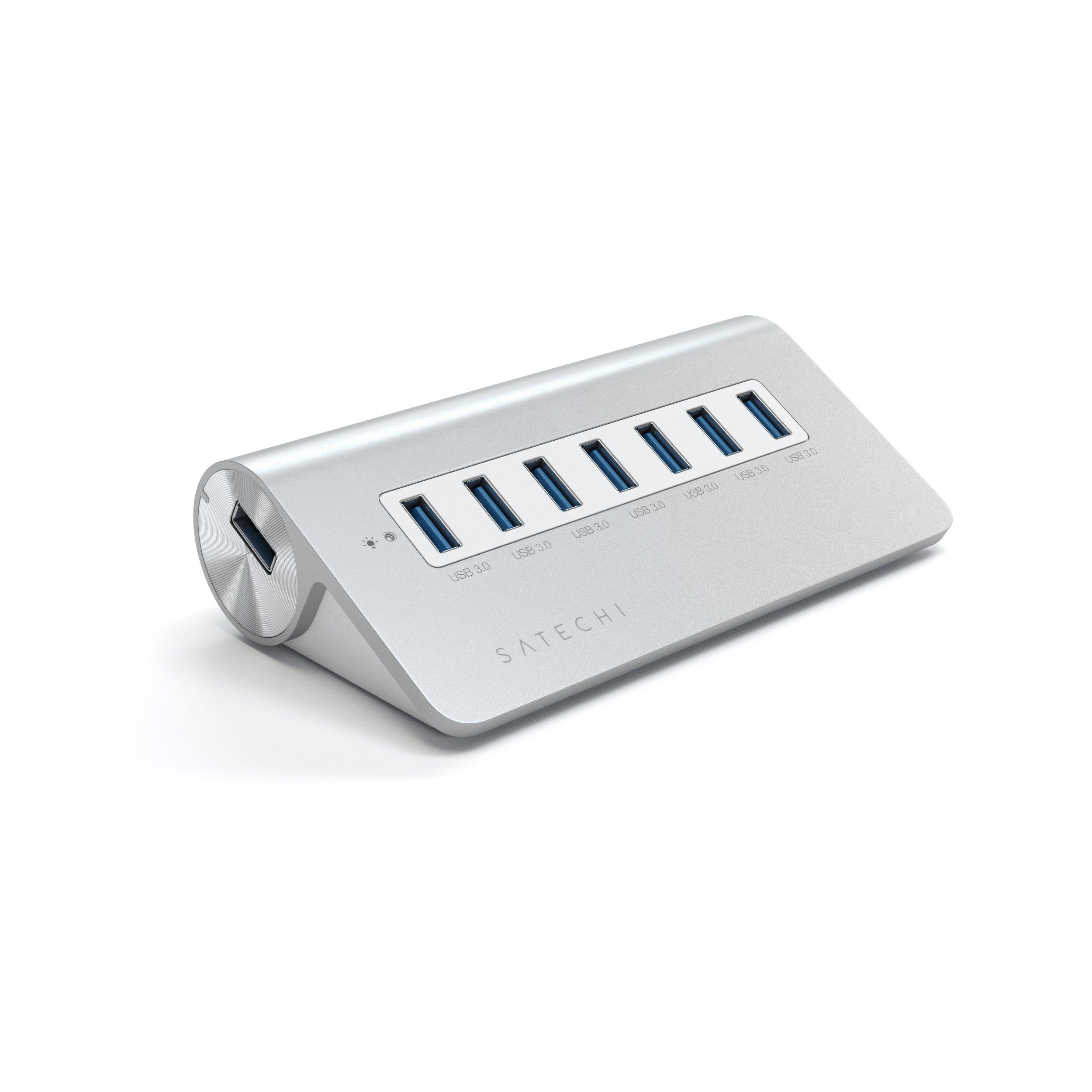 Satechi 7 Port USB 3.0 Premium Aluminum Hub (White Trim)