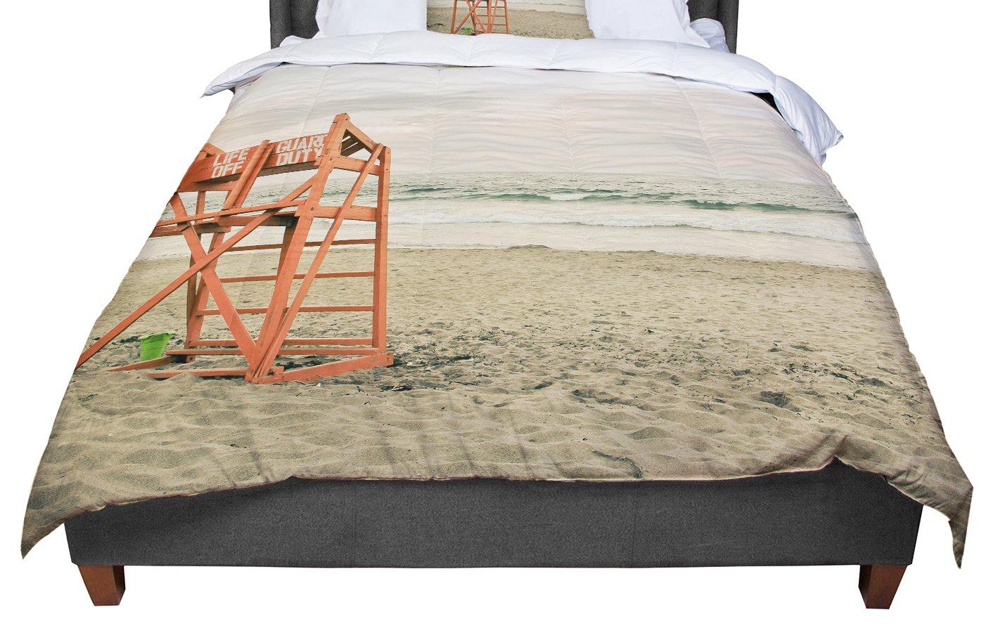 68 X 88 KESS InHouse Debbra Obertanec Dusk At The Beach Ocean Twin Comforter
