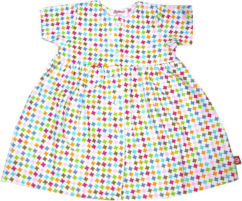 Zutano Pinwheel Short Sleeve Dress
