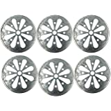 Galvanized Metal Daisy Cut Lid Insert for Mason, Ball, Canning Jar (6pack, Wide Mouth)